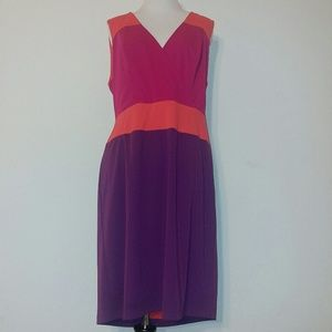Adrianna Papell colorblock dress size 14